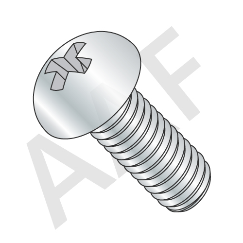 Machine Screw, Round Head Phillips, Zinc (inch)