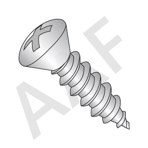 Self Tapping Screw, Oval Head Phillips, Type A, Stainless Steel 18 8 (inch)