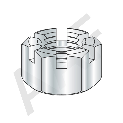 Hex Slotted Nut, Zinc (inch)