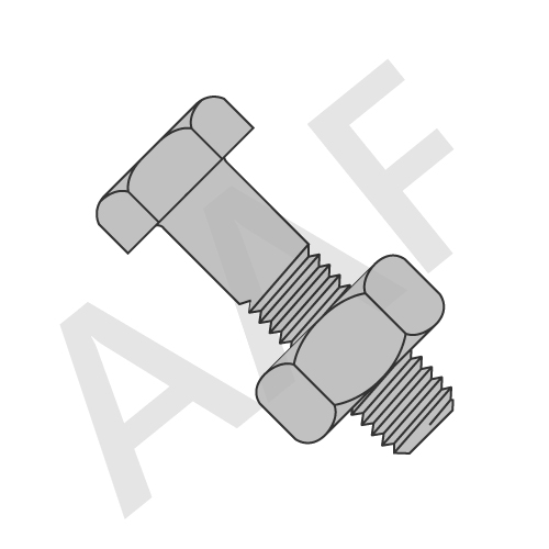 Hex Structural Bolt A325 W/ A563 C Hex Nut, Plain (inch)