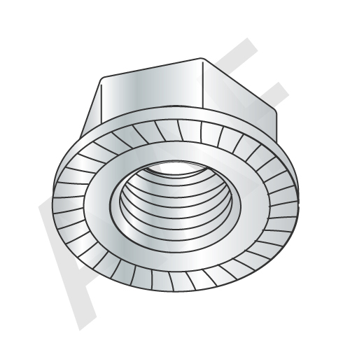 Hex Flange Nuts Serrated Stainless Steel