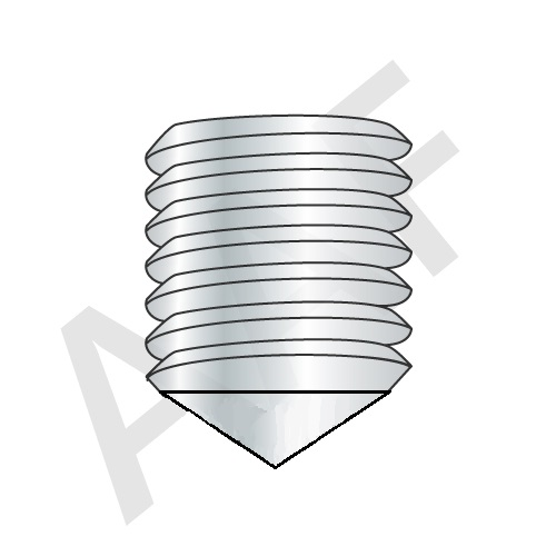 Cone Point Socket Set Screws, Stainless Steel 18 8 (inch)