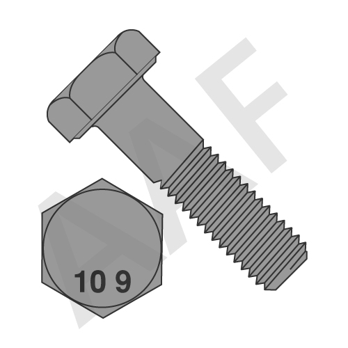 Metric 10.9 Hex Head Screw, DIN 933/DIN 961, Plain
