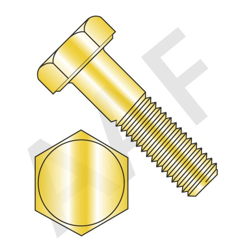 Hex Head Cap Screw Grade 2 Zinc Yellow