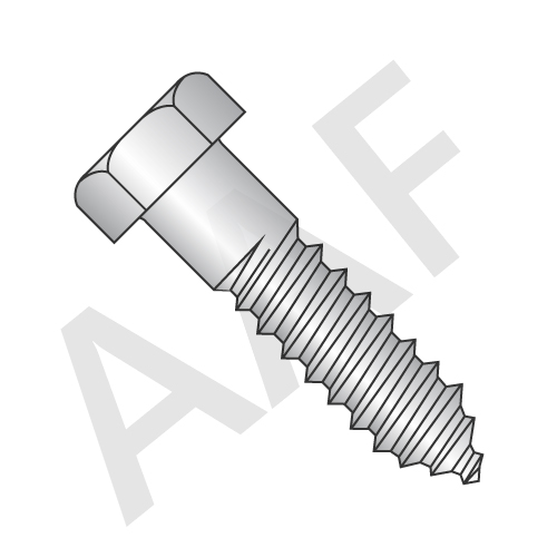 Stainless Steel 18 8 Hex Lag Screw (inch)