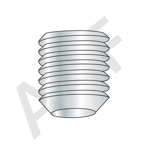 Knurled Cup Point Socket Set Screws, Zinc Bake (inch)