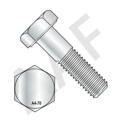 Metric Stainless Steel A4 70 Hex Cap Screw DIN 933