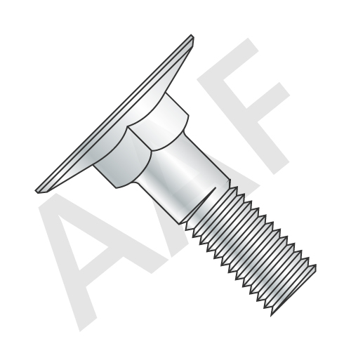 Flat Countersunk Head Elevator Bolts, Grade 2, Plain (inch)