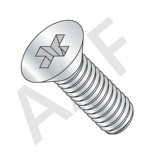 Metric DIN 965A Class 4.8 Machine Screw, Flat Head Phillips, Zinc