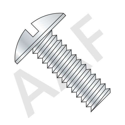 Machine Screw, Truss Head Slotted, Zinc (inch)
