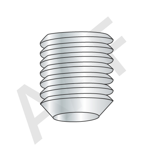 Cup Point Socket Set Screws, Zinc Bake (inch)