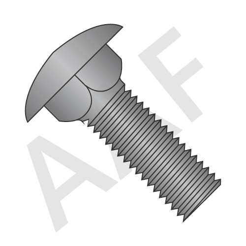 Carriage Bolts, A307 Grade A, Zinc, Low Carbon (inch)