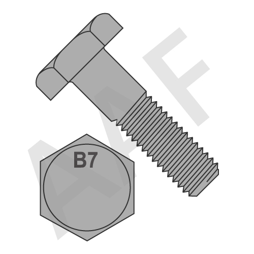 Heavy Hex Bolts, A307 Grade B, Plain (inch)