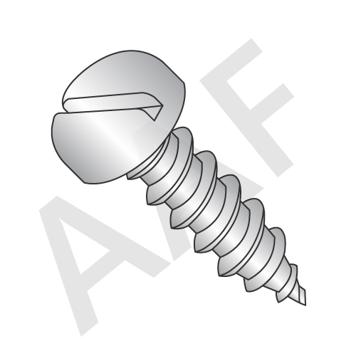 Self Tapping Screws, Pan Head Slotted, Stainless Steel 18 8 (inch)