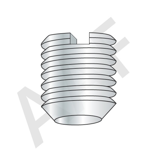 Slotted Set Screws, Cup Point, Stainless Steel 18 8 (inch)