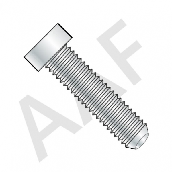 Cup Point Square Head Set Screw, Case Hardened, Fine Thread, Plain (inch)